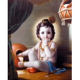 Baby Krishna with butter pot